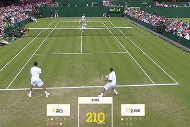 Wimbledon online game makes data entry fun