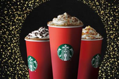Starbucks launches Christmas #RedCups with socially charged light installation and emoji