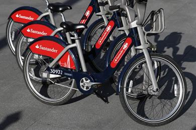 Boris bikes rebranded 'Santander Cycles' in £44m deal