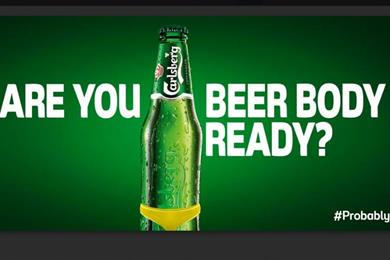 Get your beer belly out: Carlsberg asks commuters if they are 'beer body ready'