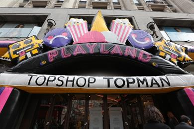 Topshop reimagines shopping as fashion playland with Twitter powered arcade