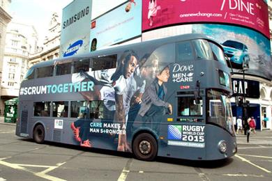 'Care makes a man stronger', says Dove in Rugby World Cup campaign