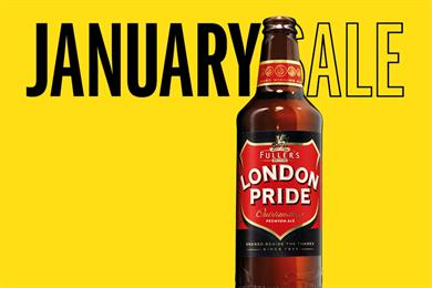 London Pride ads invite punters to the 'January ale'