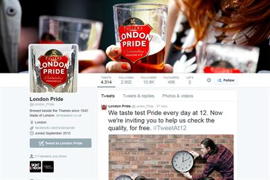 Fuller's offers free pints to tweeting Londoners