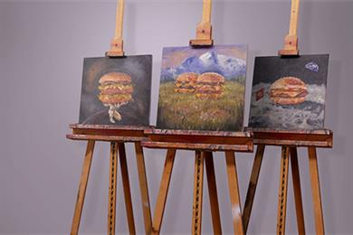 McDonald's makes Facebook Live Video debut with burger-inspired art