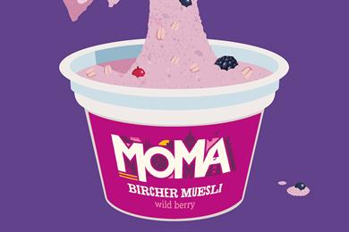 Moma launches campaign for new bircher muesli pots