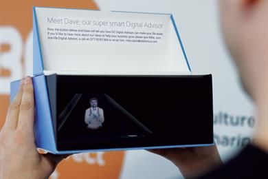 'Meet Dave': O2 sends personalised holograms to business customers