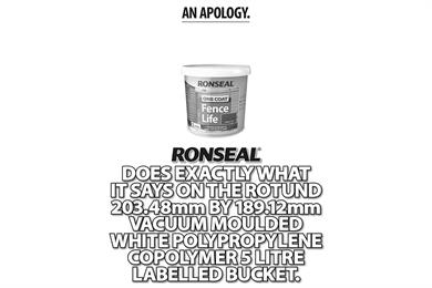 Ronseal claims to ditch 'does exactly what it says on the tin' strapline
