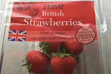 Tesco provokes national passions after renaming Scottish strawberries as British
