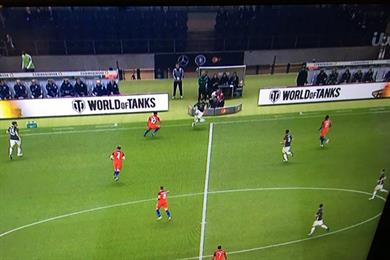 World of Tanks ads at Germany-England game raise eyebrows and smiles