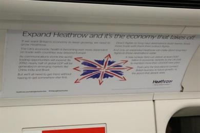 Heathrow expansion tube ad banned