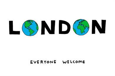 David Shrigley and Sadiq Khan launch #LondonIsOpen campaign