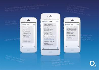 O2 sends poems to customers for National Poetry Day