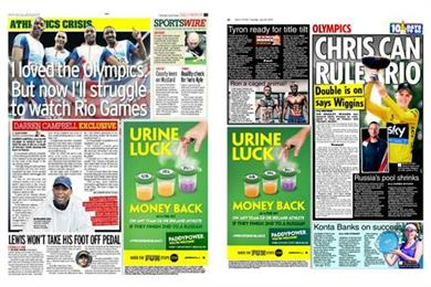 Paddy Power says 'Urine luck' with money back campaign on a Russian win