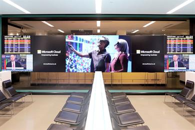 Microsoft named as Bloomberg ad partner at airport Hub