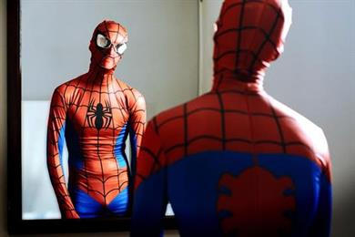 Spiderman has issues with glasses in new ads for Vision Direct