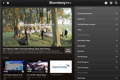 Credit Suisse sponsors Bloomberg+ iPad app
