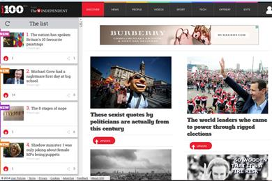 Independent's digest i launches own website i100