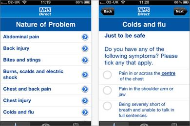 NHS Direct just the tonic for BR app chart