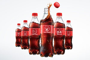 Coca-Cola is putting emoticons on its bottles in ASEAN markets