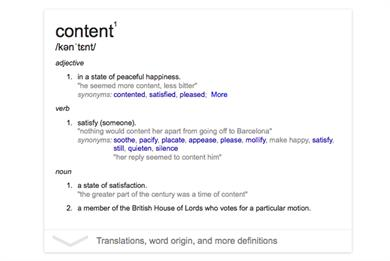 Content: Can you define marketing's most overused buzzword?