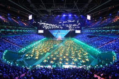 The O2's main arena