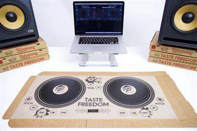 """Pizza Hut """"DJ pizza box"""" by Lexis"""