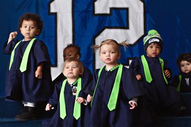 "NFL scores with ""Super Bowl Babies"" promo"