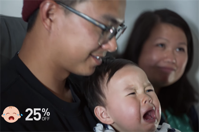 Screaming babies earn mothers' applause, not dirty looks