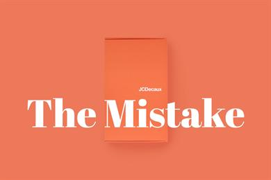 """JCDecaux """"The mistake"""" by BBDO Belgium"""