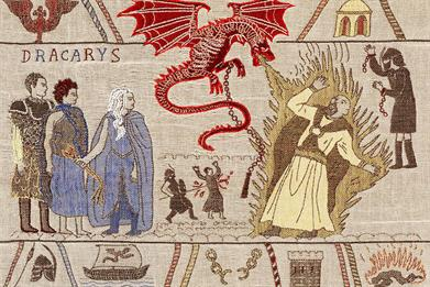 A giant Game of Thrones tapestry is the centre of Tourism Ireland's campaign