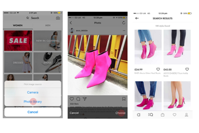 Now you can search Asos' 85,000 products with a photo