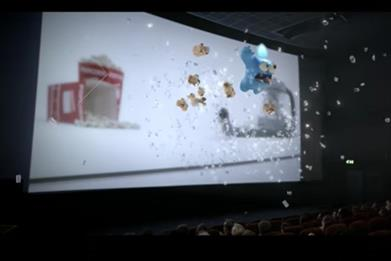 Smart Energy GB: cinema takeover stunt featuring the brand's mascots Gazzy and Leccy