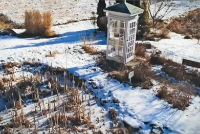 Itaru Sasaki's 'wind phone': installed in his garden in Japan