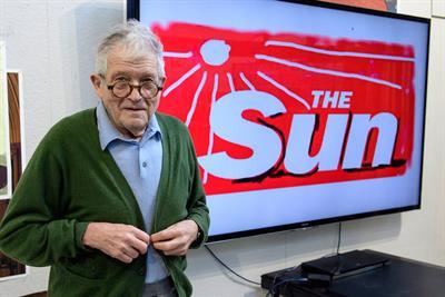 Phew what a scorcher! David Hockney redesigns The Sun's masthead