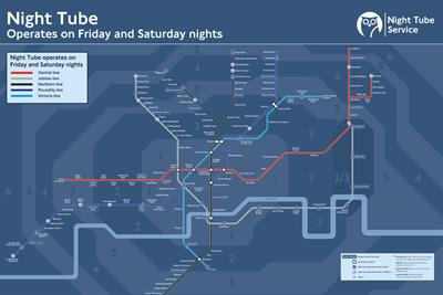 McDonald's caters to post-midnight munchies with Night Tube map
