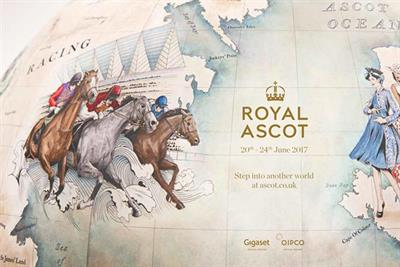 A closer look at the globe by Bellerby & Co for Royal Ascot's heritage campaign