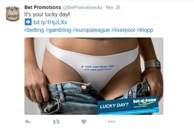 Raunchy betting ad banned for linking gambling to sexual success