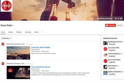 Why Coke's YouTube channel lost its fizz
