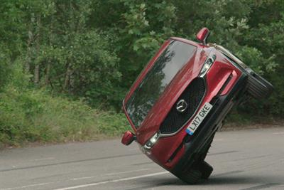 Mazda offers two-wheel stunt in VR test drive