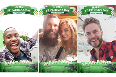 Paddy Power launches Cheltenham-themed St Patrick's Day Snapchat filter