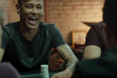 Football stars Ronaldo and Neymar in PokerStars Facebook campaign