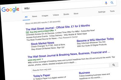 News Corp complains to Europe about Google after WSJ suffers plunge in news referrals