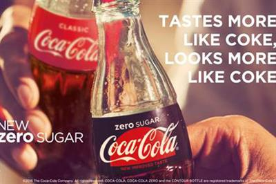 Coke launches biggest product campaign in a decade for Coca-Cola Zero Sugar