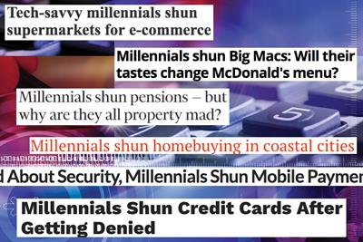 Everything 'millennials shunned' in 2016, according to the media