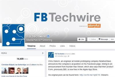 Facebook rolls out FB TechWire