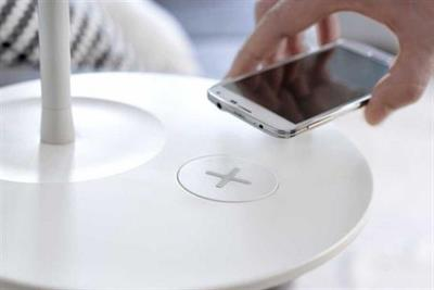 Ikea furniture to charge your mobile phone