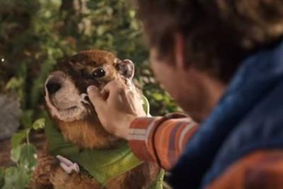 Marmot's mascot enjoys the outdoors in sportswear brand's first Super Bowl ad