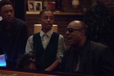 Apple flexes its music muscle with Stevie Wonder in Christmas ad