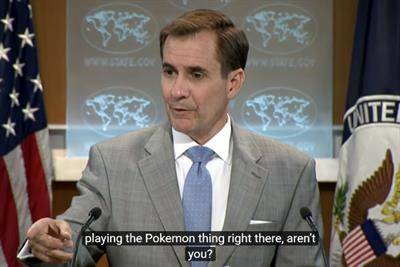 Watch: US government spokesman halts briefing to ask if reporter is playing Pokémon Go